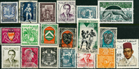 French colonies - 17 different stamps