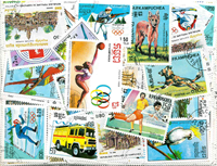 Cambodia - 345 different stamps