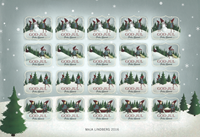 Åland Islands - Christmas 2016 - Christmas Seal Sheet
