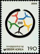Sydkorea - FIFA - Postfrisk frimærke