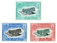Laos 131-33 * 1966 Inauguration du siège de l'Organisation Mondiale de la