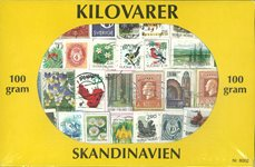 Scandinavie - Timbres au kilo mixtes - 100 gr.