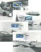 Allemagne 4 cartes maximum, avions, zeppelin, cpl