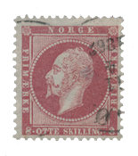 Norway 1856-57 - AFA 5 - Cancelled