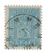 Norvège 1863-66 - AFA 8b - Oblitéré