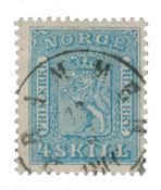 Norway 1863-66 - AFA 8b - Cancelled