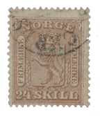 Norway 1863-66 - AFA 10 - Cancelled