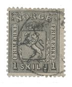 Norvège 1867-68 - AFA 11 - Oblitéré