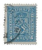 Norvège 1867-68 - AFA 14 - Oblitéré