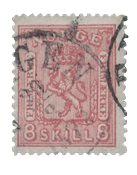 Norge 1867-68 - AFA 15a - Stemplet