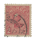 Norge 1909 - AFA 74 - Stemplet