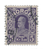 Norge 1917-19 - AFA 96 - Stemplet