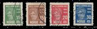 Norvège 1929 - AFA 148/51 - Oblitéré
