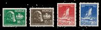 Norvège 1941 - AFA 226/29 - Neuf avec charnières