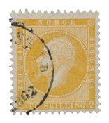 Norvège 1856-57 - AFA 2 - Oblitéré