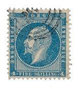 Norvège 1856-57 - AFA 4 - Oblitéré