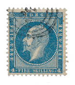 Norway 1856-57 - AFA 4 - Cancelled