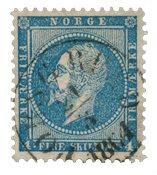 Norvège 1856-57 - AFA 4a - Oblitéré