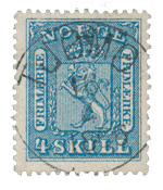 Norway 1863-66 - AFA 8 - Cancelled
