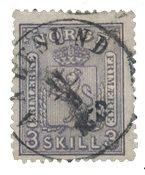 Norvège 1867-68 - AFA 13 - Oblitéré