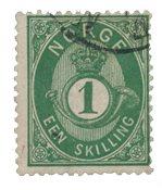 Norvège 1872-75 - AFA 16a - Oblitéré