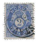 Norvège 1872-75 - AFA 17 - Oblitéré