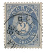 Norge 1872-75 - AFA 17a - Stemplet