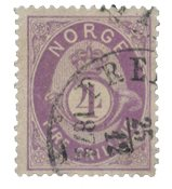 Norge 1872-75 - AFA 19 - Stemplet