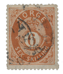 Norge 1872-75 - AFA 20 - Stemplet