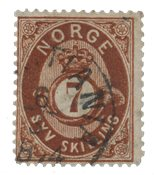 Norge 1872-75 - AFA 21 - Stemplet