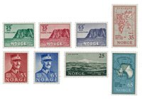 Norvège 1957 - AFA 422/27 + 430/31 - Neuf
