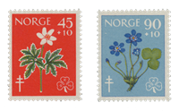 Norvège 1960 - AFA 453/54 - Neuf