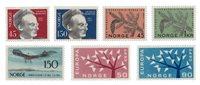 Norvège 1962 - AFA 480/84 + 490/91 - Neuf
