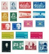 Norvège 1963 - AFA 502/16 + 522/25 - Neuf