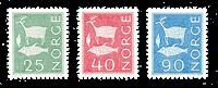 Norvège 1963 - AFA 496 + 498 + 501 - Neuf