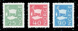 Norge 1963 - AFA 496 + 498 + 501 - Postfrisk