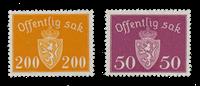 Norvège 1946-47 - AFA P58/59 - Neuf
