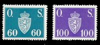 Norge 1951-52 - AFA P66/67 - Postfrisk