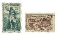 Frankrig 1936 - YT 314/15 - Stemplet
