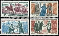 Andorre francais YT 167-70 Andorre francais 1963-64 Faits historiques