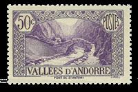 Andorra fransk YT 64 Fransk Andorra Landskaber
