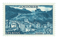 Andorra fransk YT 150a Fransk Andorra Landskaber
