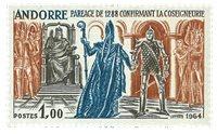 Andorre français YT 170 Andorre francais Faits historiques