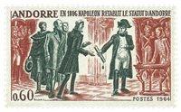 Andorre français YT 168 Andorre francais Faits historiques