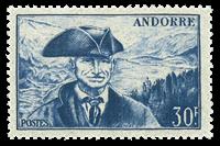 Andorra fransk YT 137 Fransk Andorra Landskaber
