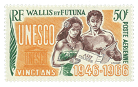 Wallis PA028 * 50 fr. 20.anniv. UNESCO 1966