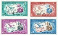 Laos 142-45 * 1966 Semaine internationale de la lettre écrite