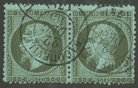 France - YT19 paire - Oblitéré