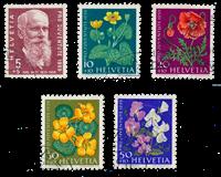 Suisse 1959 - Michel 687/91 - Oblitéré