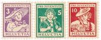 Schweiz 1916 - Michel 130/32 - Postfrisk